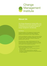 Change Management Institute Corporate Information Sheet