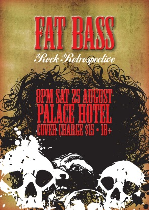 Fat Bass Rock Retrospective Poster