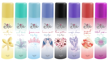 Jive Bodyspray Packaging