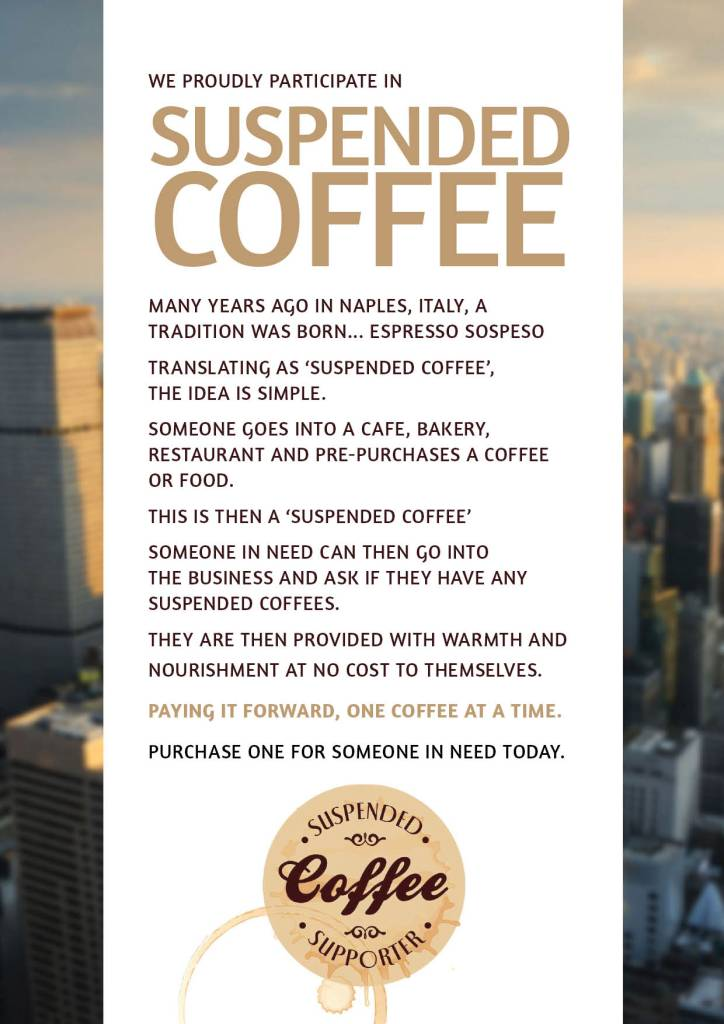 Suspended Coffee Flyer