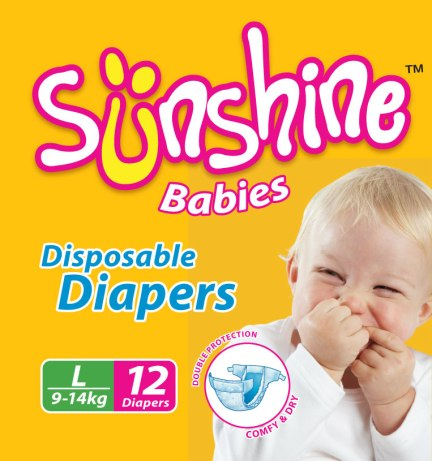 Sunshine Baby Diapers - Packaging Design